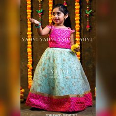 Sewing Baby Girl Clothes Mom Ideas For 2019 Kids Party Wear Dresses, Kids Dress Wear, Kids Gown, Dresses Kids Girl, Girl Outfits, Children Dress, Baby Girl Lehenga, Kids Lehenga, Baby Frocks Designs