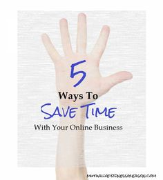 5 Ways To Save Time With Your Online Business - Having an online business can definitely rack up some hours of mundane, monotonous work. As a blogger, there's marketing and advertising yourself on social media and... (scheduled via http://www.tailwindapp.com?utm_source=pinterest&utm_medium=twpin&utm_content=post83865017&utm_campaign=scheduler_attribution) (scheduled via…