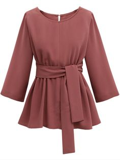 CUWHF 2018 Plus Size Chiffon Shirt Women Blouses Bow Peplum Top Blusas Mujer Autumn Women Blouse Femme - Best Picture For outfits autumn For Your Taste You are looking for something, and it is going to - Dress Plus Size, Plus Size Outfits, Hijab Stile, Mini Dresses For Women, Plus Size Kleidung, Long Sleeve Mini Dress, Mode Hijab, Chiffon Shirt, Muslim Fashion