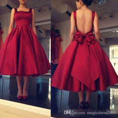 9ca95c71b65 2017 Cheap Tea Length Prom Dresses Spaghetti Backless Burgundy Red Draped  Short Women Plus Size Formal