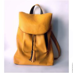 Buy Morocco Leather Backpack Mustard - leather, leather backpack, backpack, backpack leather