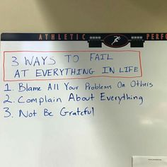 3 Ways to Fail at Everything #BeaWinner