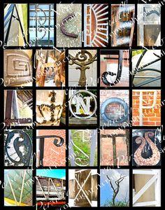 Photo Alphabet Letter Art Print