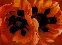 lonequixote:  Oriental Poppies~Georgia O'Keeffe