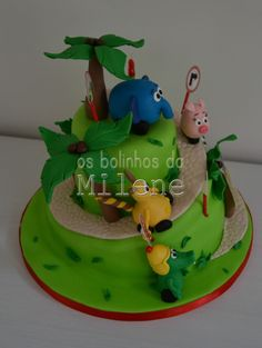 . . : | Cake Pops Portugal | : . . Os Bolinhos da Milene: selva sobre rodas