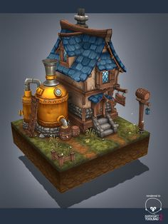 Medieval brewery by AntonioNeves on DeviantArt
