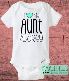 Aunt uncles favorite custom baby onesie by cuteandfunnykids custom i love my aunt funny baby onesie auntie onesie negle Choice Image