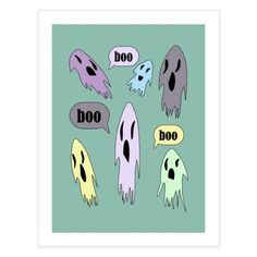 Boo Funny Ghost, Special Characters, Lower Case Letters, Lowercase A, Ghosts, Fine Art Paper, New Art, My Design, Fine Art Prints