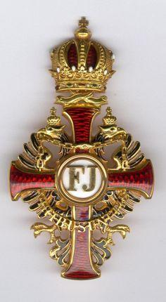 Franz Joseph Order, Officer's Cross breast badge, 'Steckkreuz', with WD, 71 x 40mm, Vinc Mayer's Sohne, Vienna. 01