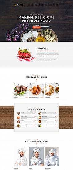 Template 59457 - Restaurant Cafe  Responsive Moto CMS 3 Template