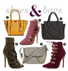 """""""shoes & bags"""" by windsorstore on Polyvore featuring shoes, handbag and bags"""