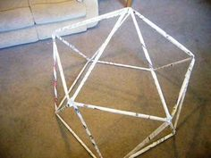 What To Do With All That Newspaper - Create a Geodesic Dome