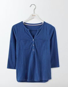 Simple, laid-back, classic: this top has all the ingredients (easy-to-wear cotton slub, three-quarter-length sleeves and pockets) of a never-want-to-take-off essential.Throw on over a bikini for an alternative beach cover-up, or use as a building block in everyday outfits.