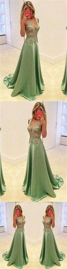 Modest Long V-neck A-line Lace Simple Elegant Beauty Prom Dresses M0707#prom #promdress #promdresses #longpromdress #promgowns #promgown #2018style #newfashion #newstyles #2018newprom#eveninggowns#vneck#lace#simpledress#meetbeauty