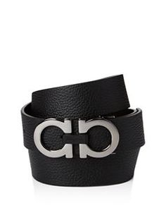 01dad6da787 Men s Revival Textured Reversible Belt with Shiny Rhodium-Tone Double  Gancini Buckle