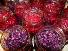 Pickled Red Cabbage Recipe (2 small cabbages, salt, cider vinegar, cloves, nutmeg, bay leaves, pickling spice, sugar)