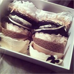 Pretty bra storage! like at victoria's before they get rifled through lol