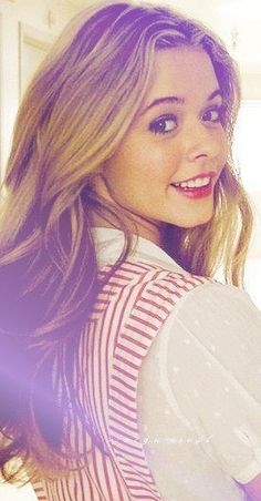 Sasha Pieterse (Alison DiLaurentis) - Pretty Little Liars - The episode when Ali visits Hanna in the hospital - Hanna thought she was hallucinating because everyone thought Alison was dead - Alison actually was at the hospital that day, alive, after her so-called 'death'.