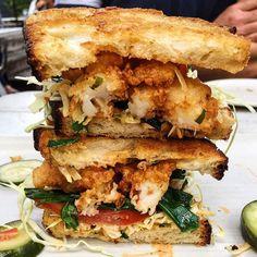 The @thefoodiekids know what's up!! Look at this fried shrimp sandwich @epicerie_austin... It looks amazing!  -  by @thefoodiekids  at @epicerie_austin  by @ashleylaughlin  #myfab5 #Friedshrimp #atx #austinfood #foodie #foodporn #SXSW by bestfoodaustin