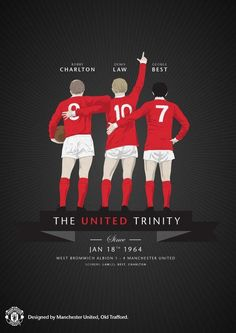 Fifty years ago today (18.1.2014), the Utd Trinity of Bobby Charlton, Denis Law and George Best played together for the first time.