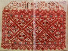 Vologda Region embroidery patterns (19th cent.)