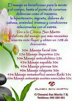 Liberate del #estres! #Masajes #relajantes, tratamiento de #migrañas #tristeza. Pide #cita ya www.policlinicasanmartin.es