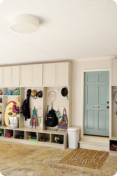 I would love to have lockers in the garage in addition to in the laundry/mud room - some stuff needs to stay outside!