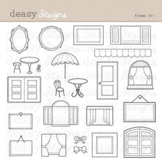 FRAME IT! collection by Deasy Designs digital stamps Window Cards, Art File, Digi Stamps, Frame It, Pattern Paper, Doodle Art, Paper Dolls, Embroidery Patterns, Coloring Pages
