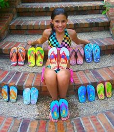 Young entrepreneur Madison Robinson with her Fish Flops - for my girl to read, the one with the bazillion ideas