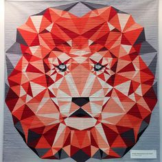 Fabric Depot has put together a kit for the Jungle Abstractions: Lion paper piecing pattern by Violet Craft. This kit includes all the fabric needed to complete the quilt front and binding. Paper Piecing Patterns, Quilt Patterns, Sewing Patterns, Michael Miller, Keepsake Quilting, Cat Quilt, Quilt Art, Quilt Modernen, Animal Quilts