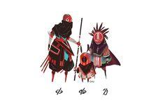 "3 Wise ""Monkeys"", Janice Chu on ArtStation at https://www.artstation.com/artwork/AkERo"