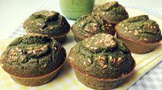 Green muffins: veganos, sin azúcar y sin gluten! - mediolimon