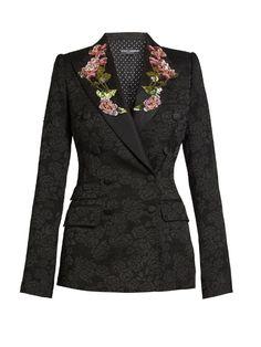 Dolce & Gabbana Embellished floral-embroidered jacquard jacket