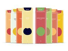 Juicier juice illustrations   Packaging by Guilherme de Bernardo S., via Behance
