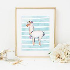 Llama Printable Nursery Llama Print Llama Wall Art Llama Theme