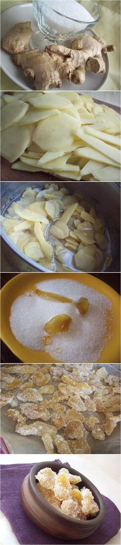 Candied Ginger - having made a huge batch this week - it's super easy, I'll…