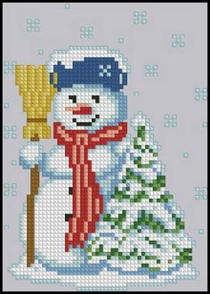Snowman. Cross Stitch Pattern PDF Instant Download
