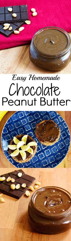 Make your own chocolate peanut butter! Kids love this and it's so easy to make! No added sugar, no dairy. Vegan, gluten free, simple recipe!