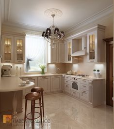 Inspiration for the heart of the home. the kitchen. Luxury Kitchen Design, Best Kitchen Designs, Interior Design Living Room, Kitchen Flooring, Kitchen Cabinets, Industrial Farmhouse Kitchen, Luxury Homes Dream Houses, Classic House, Home Decor Furniture