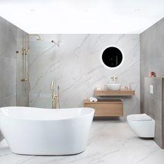 De complete badkamer Next Level zit boordevol met de laatste trends. De combinatie van marmer en betonlook, of geborsteld eiken en goud? Dat zijn nu echt de laatste trends. Laat je verassen door de bijzondere afmetingen van de tegels, maar liefst tot 120x60cm. Dat moet je echt een keer zien! Verder is deze badkamer van heel veel luxe voorzien: vrijstaand bad met vrijstaande badkraan, luxe badmeubelset, luxe regendouche en ga zo maar door. En dat alles, nu voor een spektaculaire prijs! Bathtub, Bathroom, Lush, Lavender, Standing Bath, Washroom, Bathtubs, Bath Tube, Full Bath