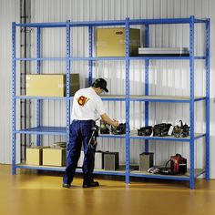 Heavy duty options for shelving at garages can help organize garages in a neat way.