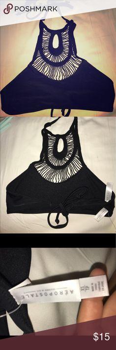 Black bikini top. Aeropostale xS Aeropostale bikini top.  Black XS never worn Aeropostale Swim Bikinis