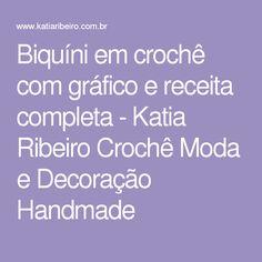Biquíni em crochê com gráfico e receita completa - Katia Ribeiro Crochê Moda e Decoração Handmade