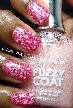 Sally Hansen Fuzzy Coat, Wool Lite over LCN Pink Pepper