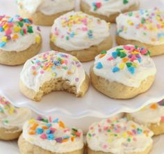 Soft Buttermilk Sugar Cookies are classic sugar cookies with the addition of buttermilk for an extra soft, pillowy texture. Family favorite frosted sugar cookie recipe that you've got to try! Sour Cream Sugar Cookies, Sugar Cookie Frosting, Easy Sugar Cookies, Sugar Cookie Dough, Sugar Cookies Recipe, Cookie Recipes, Baking Recipes, Dessert Recipes, Cookie Flavors