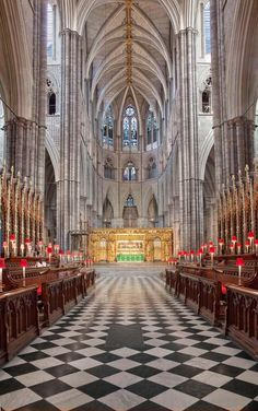 "Interior of Westminster Abbey, London... My one ""miss"" in London when I was there. We arrived just after they had closed early for the day so that they could get ready for the Queen's 50th Jubilee. I was devastated to have missed this."