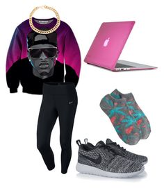 """""""August alsina"""" by haileycouture ❤ liked on Polyvore featuring NIKE, J.Crew, Alessandra Rich and Speck"""