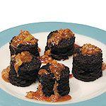 Chockablock Chocolate Cakes with Warm Macadamia Nut Goo Recipe : Food Network - FoodNetwork.com