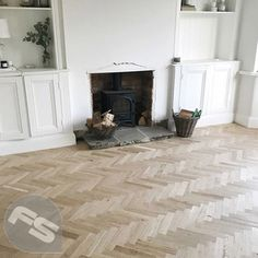 We love to see our customers installs. This unfinished parquet looks amazing! * Robust 10 mm thickness *Authentic wood knots and grains *Rustic grade year warranty* Unfinished parquet is great to get creative and express your unique sense of style. Direct Wood Flooring, Oak Parquet Flooring, Solid Wood Flooring, Engineered Wood Floors, Unfinished Wood Floors, Flooring Ideas, Laminate Flooring, Living Room Wood Floor, Living Room Flooring