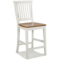 Shop for White Distressed Oak Bar Stool by Home Styles. Get free shipping at Overstock.com - Your Online Furniture Outlet Store! Get 5% in rewards with Club O! - 14191137